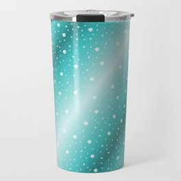 white shamrocks in mint color Travel Mug