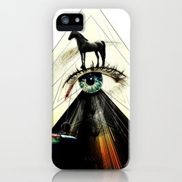 The Green Eye Surrealism Art Photo Collage iPhone Case