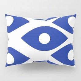 Blue and White Pattern Fish Eye Design Pillow Sham