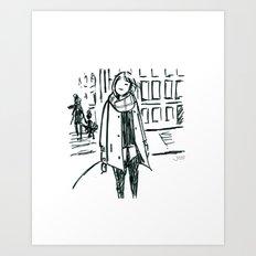 Brush Pen Fashion Illustration - Dreamer Art Print