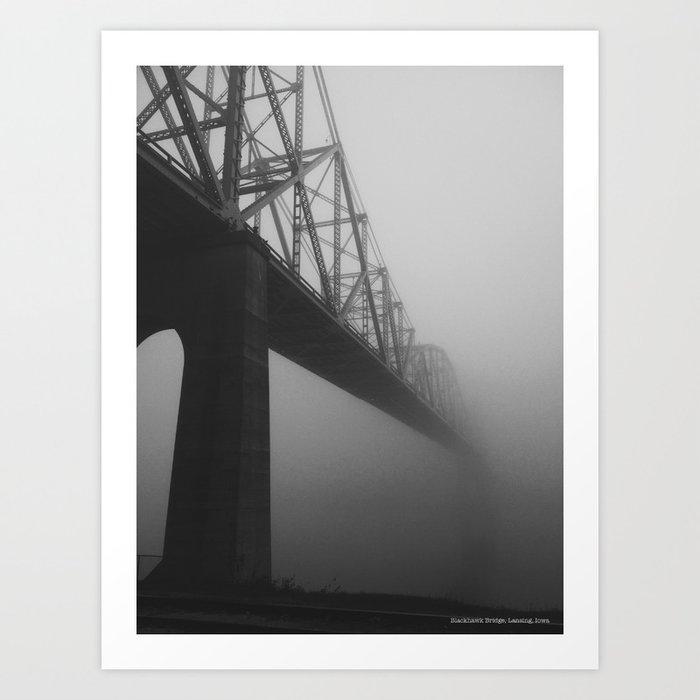 The Bridge and the Mist Art Print