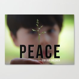 Peace for our Children Canvas Print