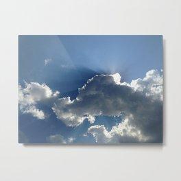 The Heavens Open Metal Print