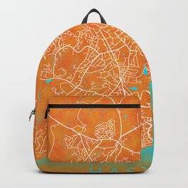 Hastings, England, Gold, Blue, City, Map Backpack