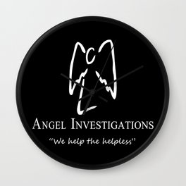 Angel Investigations (Inverted) Wall Clock