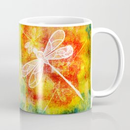 Dragonfly in embroidered beauty Coffee Mug