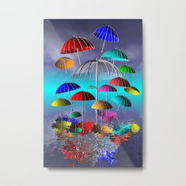 fly, umbrella, fly Metal Print