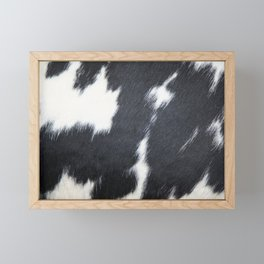 Photography - Cowhide Black And White  Framed Mini Art Print
