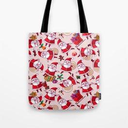 Santa Gift Pattern Tote Bag