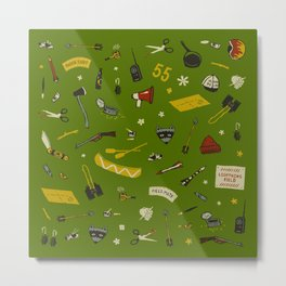 Moonrise Kingdom plot pattern Metal Print