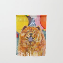 Chow Chow with Balloons Wall Hanging