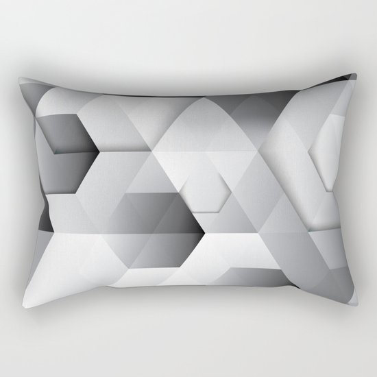 Black geometrics Rectangular Pillow