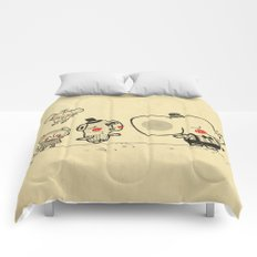 Forest Friends \ Cute Animals March\ elephant cats dogs  Comforters
