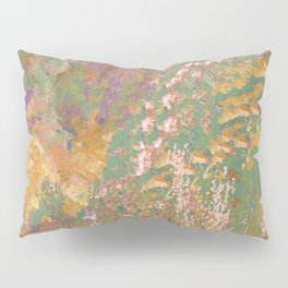 Purple and Gold Abstract Garden Pillow Sham