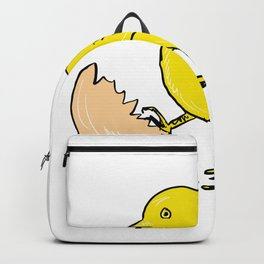 Chick Hatching Inside Egg Drawing Backpack