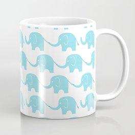 Blue Elephant Parade Coffee Mug