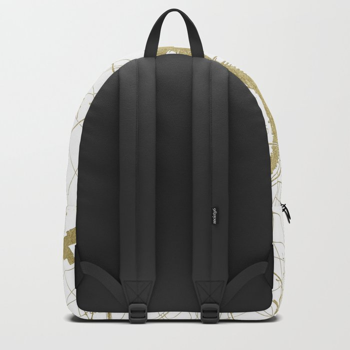 Philidelphia - White and Gold Backpack