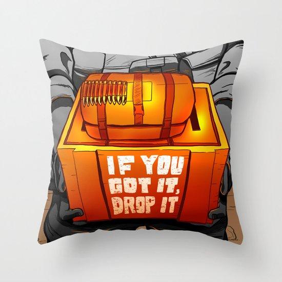 Drop It Throw Pillow
