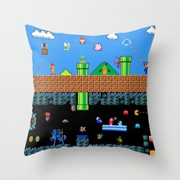 The Great Sprite Battle Throw Pillow