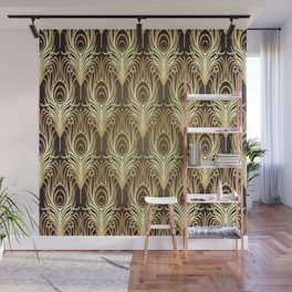 Golden Art Deco print Wall Mural