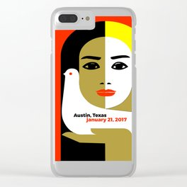 Women's March On Austin Texas 2017 Clear iPhone Case