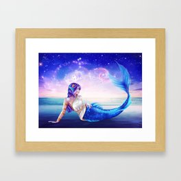 Pisces OC - 12 Zodiac Ladies Framed Art Print