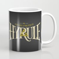 hyrule Mugs featuring Hyrule Nation by Jango Snow