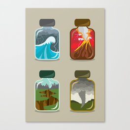 Disaster In A Jar Canvas Print