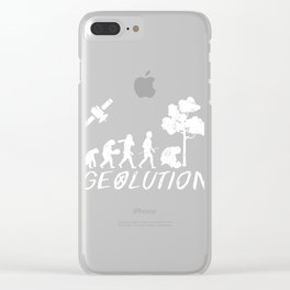 """Great Design If You Love To Do Gardening Or Even For A Gift Idea """"Geolution"""" T-shirt Design Trees Clear iPhone Case"""