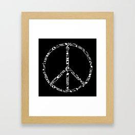 Music peace - inverted Framed Art Print