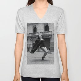Thrown Back En Pointe Unisex V-Neck
