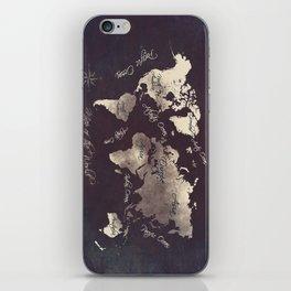 world map 18 iPhone Skin