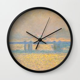 """Claude Monet """"Charing Cross Bridge"""" (1900) Wall Clock"""