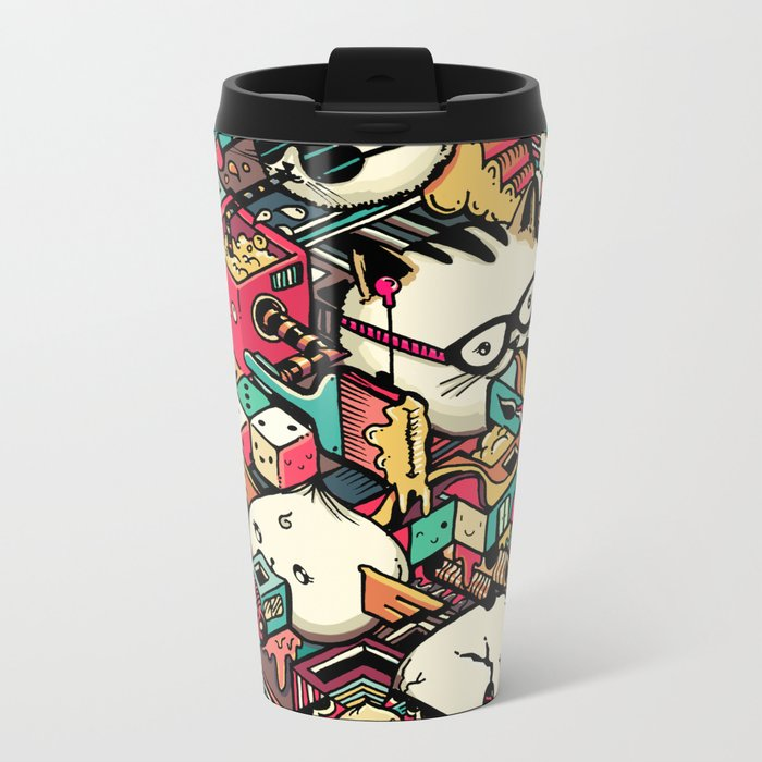 Welcome to Isometric City! Metal Travel Mug