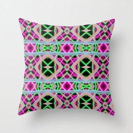 Neon Dream Throw Pillow