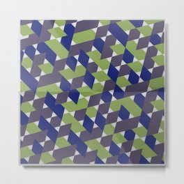 Green-Blue-Purple  Metal Print