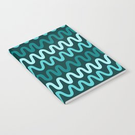 Bold Teal Waves Notebook