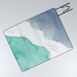 Watercolor Drops Picnic Blanket