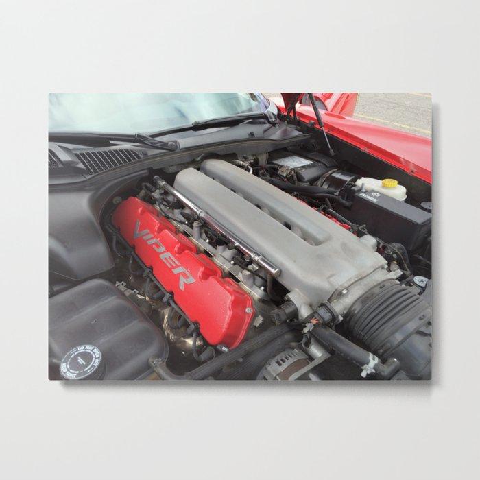 Dodge Viper SRT-10 Engine Metal Print