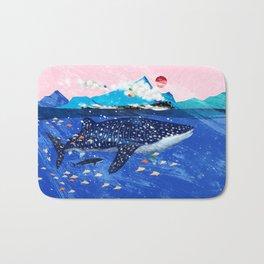 WHALE SHARK AND STEAM TRAIN Bath Mat