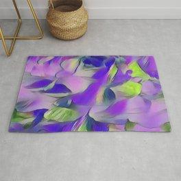 Heavenly Rose Petals Abstract - Purple Rug