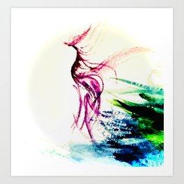 red firebird Art Print