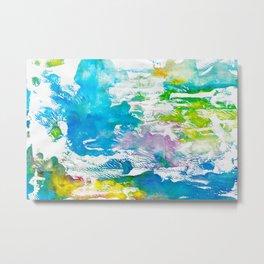Algae and Aqua - Abstract Painting Metal Print