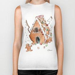 Gingerbread House Biker Tank
