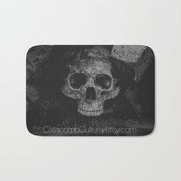Catacomb Culture - Black and White Human Skull Bath Mat
