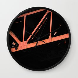 Crosshairs - Golden Gate Bridge San Francisco Wall Clock