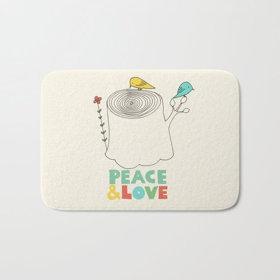 Peace & Love Bath Mat