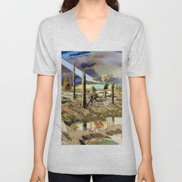 Paul Nash - The Menin Road - Digital Remastered Edition Unisex V-Neck