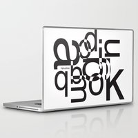 helvetica Laptop & iPad Skins featuring helvetica 01 by Vin Zzep