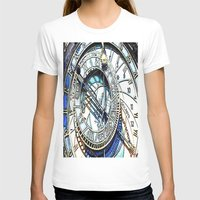 prague T-shirts featuring Prague Clock by arnedayan